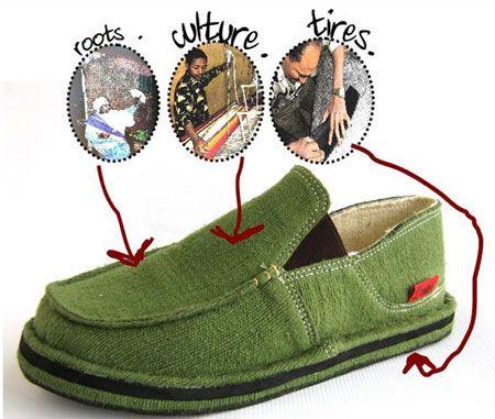 Самодельная обувь из подручных средств