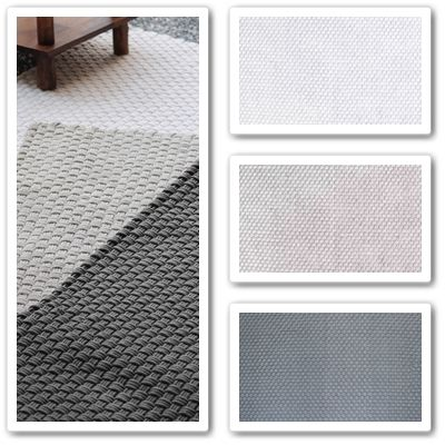 HF Galleria Rugs  A warm and elegant basket weave in neutral colours, handwoven in cotton and featuring intricate workmanship.