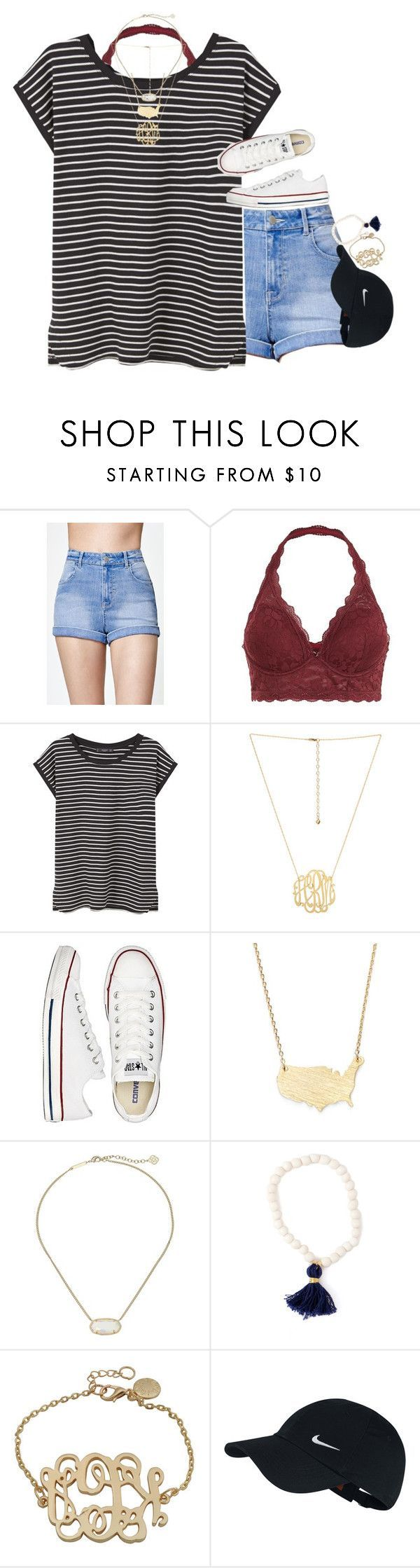 """why is target putting out school supplies? "" by meljordrum ❤ liked on Polyvore featuring Kendall + Kylie, MANGO, Converse, Moon and Lola, Kendra Scott, NIKE and meljordrumfavsets"