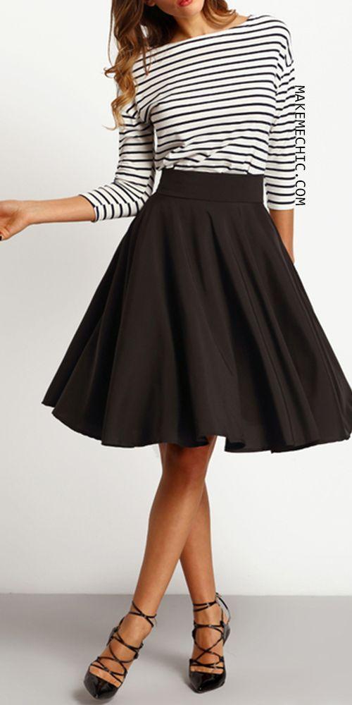 Midi high waist skirt spring/summer