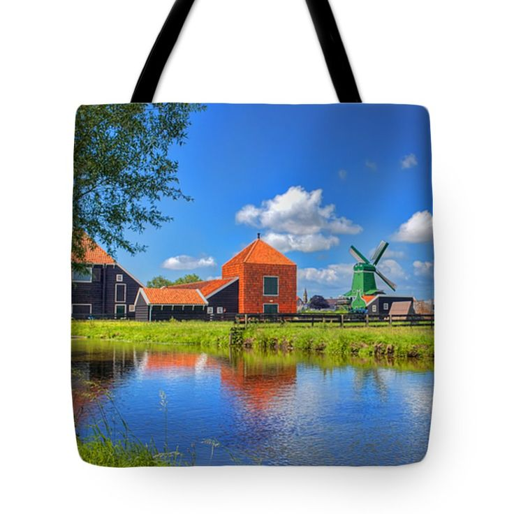 "Dutch Countryside Tote Bag 18"" x 18"""