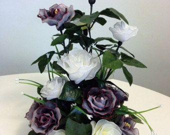 Artículos similares a Handmade Colorful Nylon Orchids Arrangement en Etsy