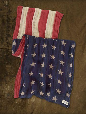 American Flag Scarf - Scarves & Gloves Shop All Brands - Ralph Lauren France