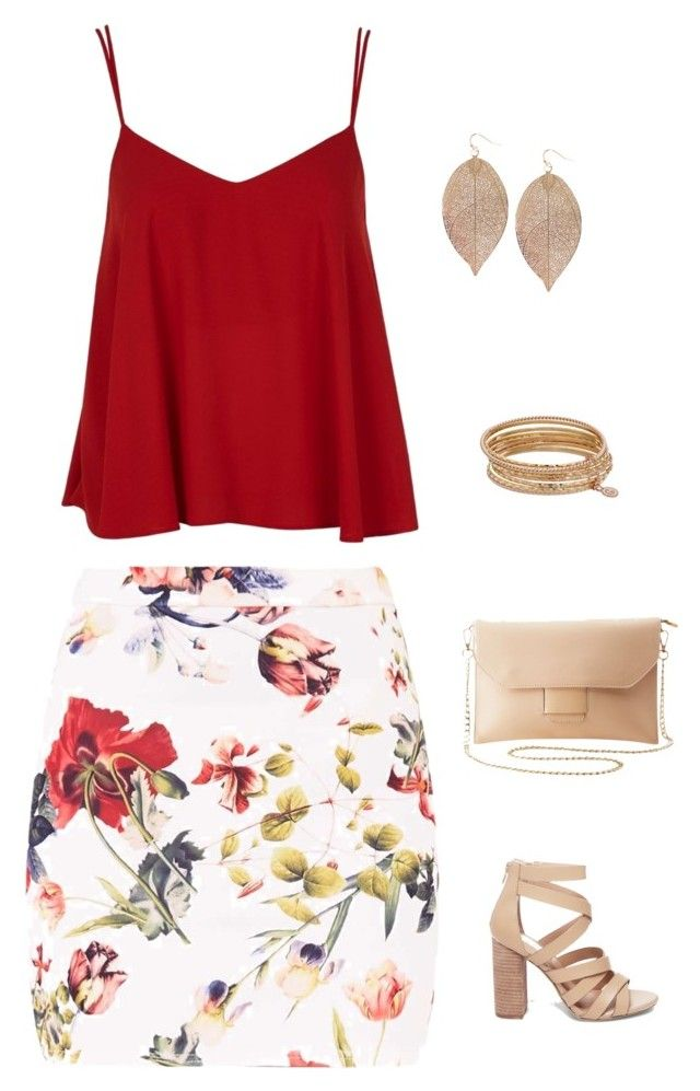 """""""Untitled #1679"""" by netteskytte on Polyvore featuring Topshop, Charlotte Russe, Humble Chic, Jennifer Lopez and Steve Madden"""