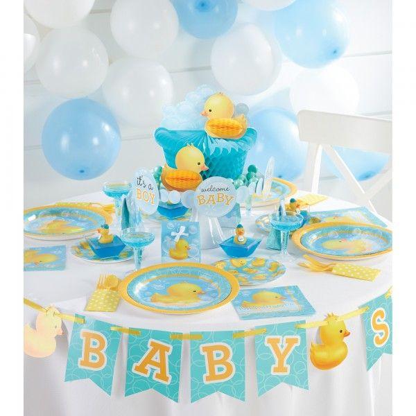 Baby Shower Entchen Deko für die Babyparty und Babyshower.