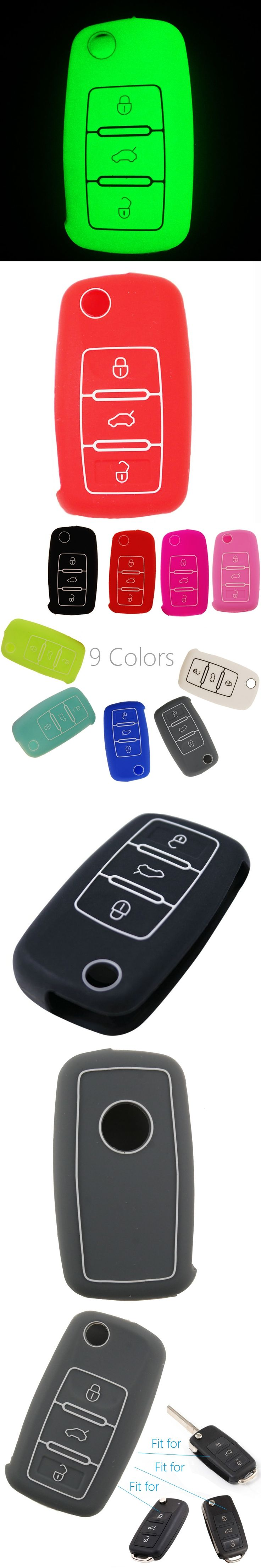 1pcs 3 Buttons Silicone Car Key Case Cover For Skoda Octavia A5 Fabia Superb Yeti Rapid Citigo SEAT Ibiza Leon