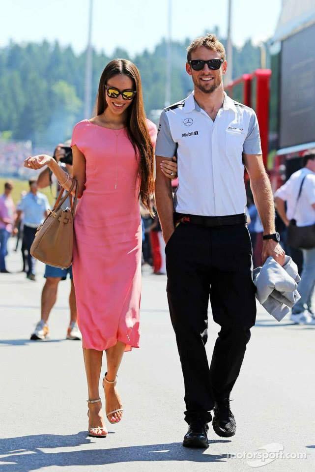 Jenson Button and Jessica Michibata F1 Austrian Gp 2014