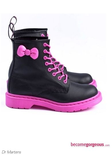 Dr Martens Hello Kitty Pink and Black Boots