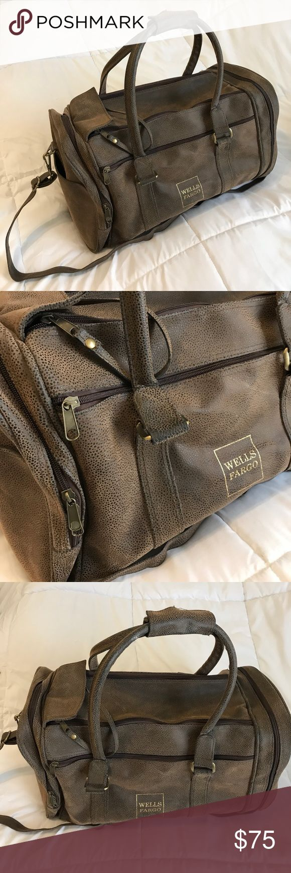 """Vintage Wells Fargo bag Vintage Wells Fargo bag. 24"""" long, 12"""" wide, 18"""" tall. 5 pockets/compartments. Perfect condition. Bags Travel Bags"""
