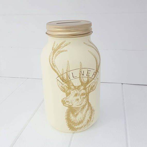 Stag Kilner Money Jar Stag Vase Gift Home Decor