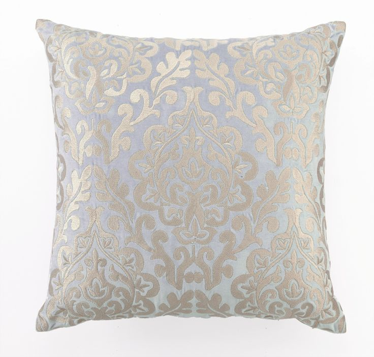 soft and shiny dl rhein damask blue embroidered velvet pillow find this pin and more on pillows
