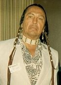 """Russell Means (Oyate Wacinyapin  """"works for the people"""") - Oglala Sioux, prominent leader of American Indian Movement (AIM), activist, politician, actor, writer, musician"""