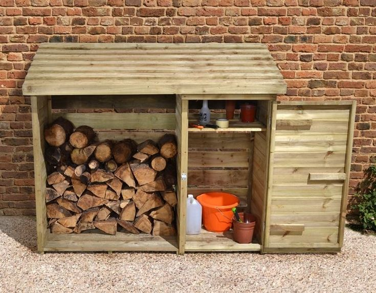 6 x 2 store plus large log store tool shed