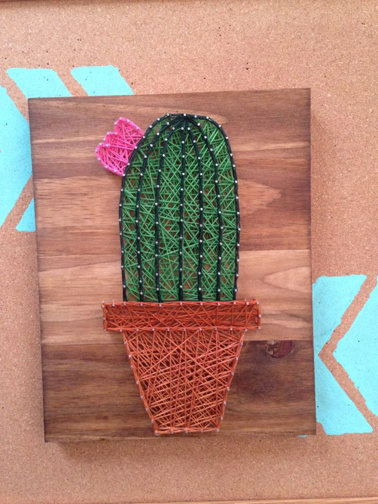 cactus string art cacti mini succulent wall art home decor southwestern decorations nursery baby. Black Bedroom Furniture Sets. Home Design Ideas
