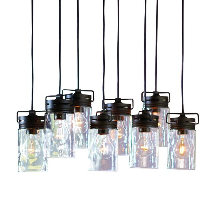 allen roth vallymede 7 7 in olde bronze multi pendant light with clear glas. Black Bedroom Furniture Sets. Home Design Ideas