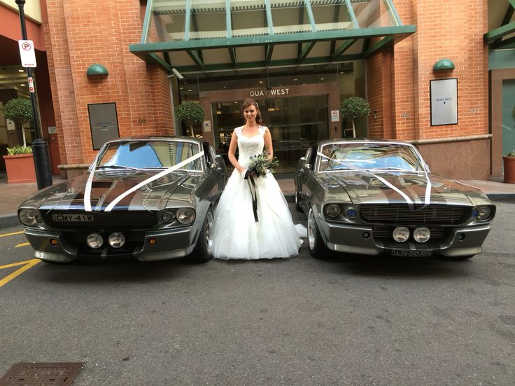 Katrina loved her two Shelby GT500 Eleanor's as her wedding cars