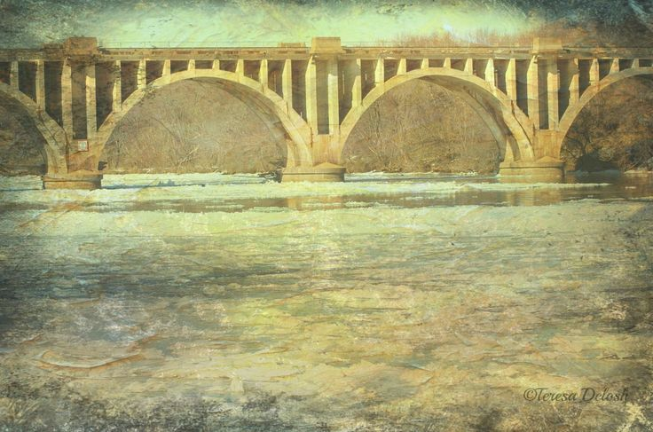 Falmouth #Bridge with #River of Ice 2 #Photograph #hdr