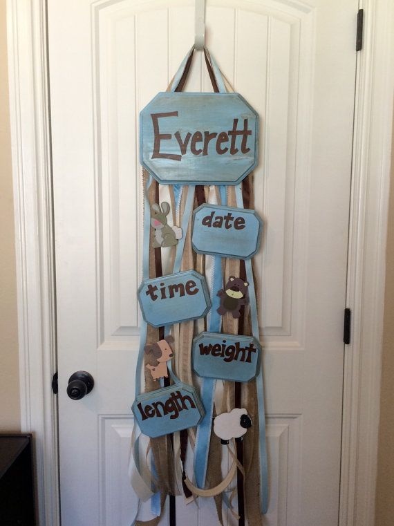Custom baby boy door hanger for hospital by BayouBurlapandBling #BayouBurlapandBling