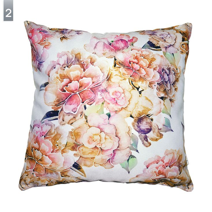 SALE -50% OFF Peonies pillow cover by original pattern design, lilac gold and pink floral cushion covers 16x16'(40x40cm) by Milenska on Etsy