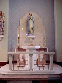 Altar Of The Blessed Virgin Mary In Church Immaculate Conception Fort Smith