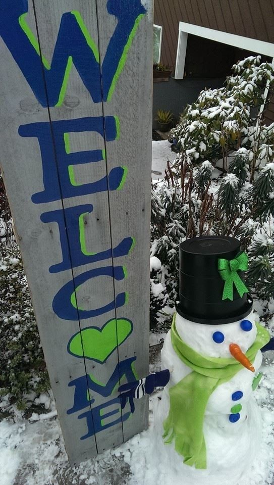 Seattle Seahawks Welcome Sign by MemoriesToMagic on Etsy, $60.00