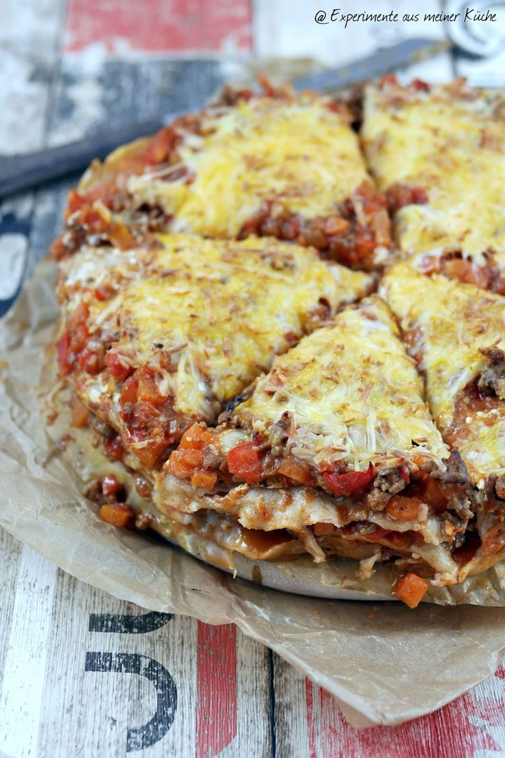 Experimente aus meiner Küche: Tortilla-Hack-Torte --> 9 SP pro Stück