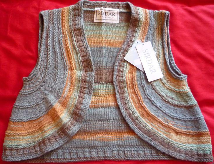 Hand-knitted Ladies DK Waistcoat