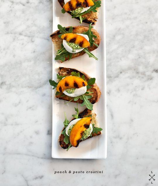 Peach & Pesto Crostini (from Love & Lemons)