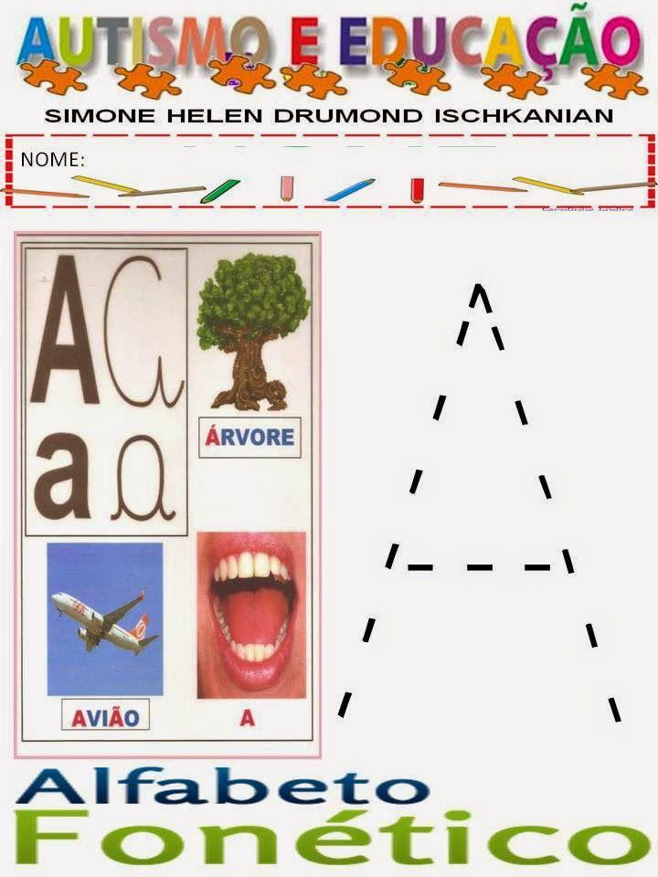 AUTISMO E EDUCAÇÃO SIMONE HELEN DRUMOND: ALFABETO FONÉTICO