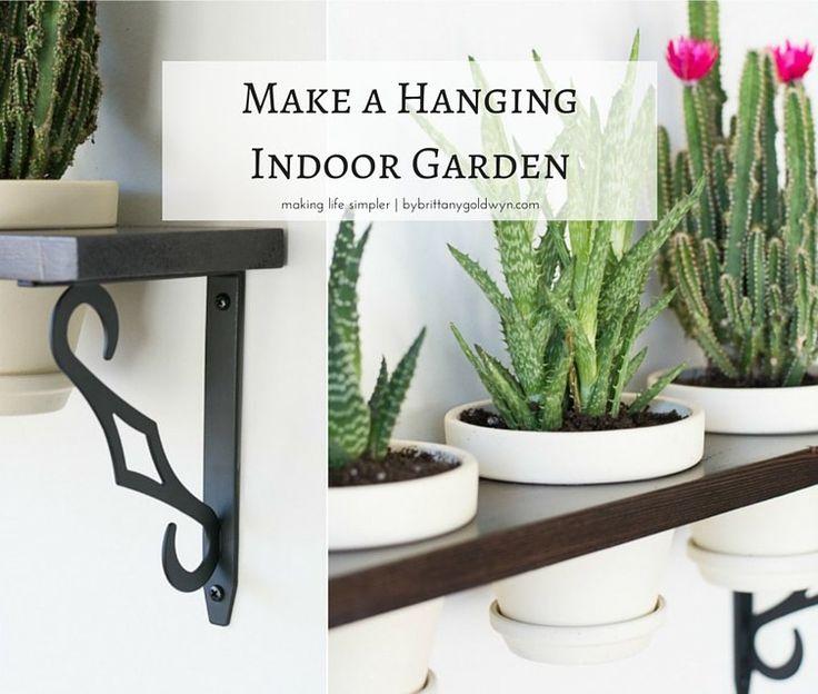 Make A Hanging Indoor Garden Gardens Hanging Herbs And