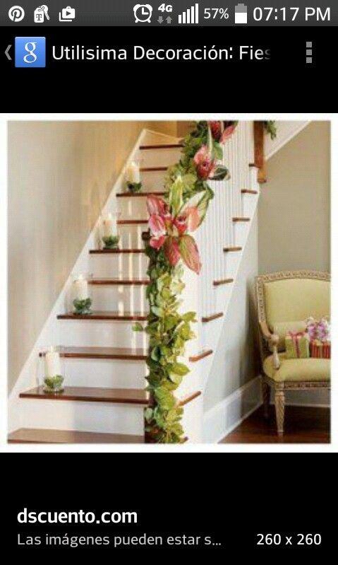 17 mejores im genes sobre escalera decorada en pinterest - Decoracion para escaleras ...
