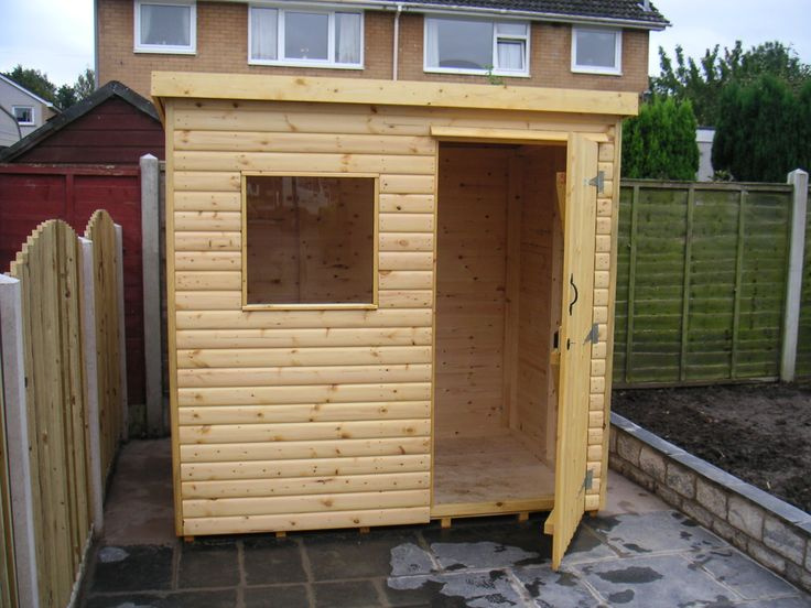 6x4 Garden Shed Neatly installed in a customer garden in Carlisle