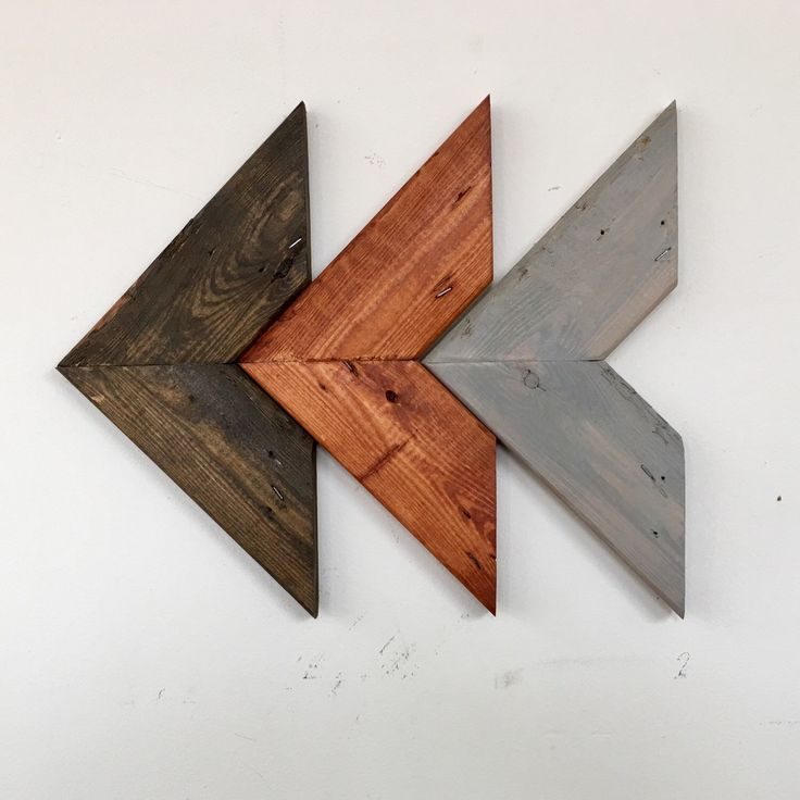 Chevron arrows in three stain tones.  Perfect rustic art for your home or to give as a gift