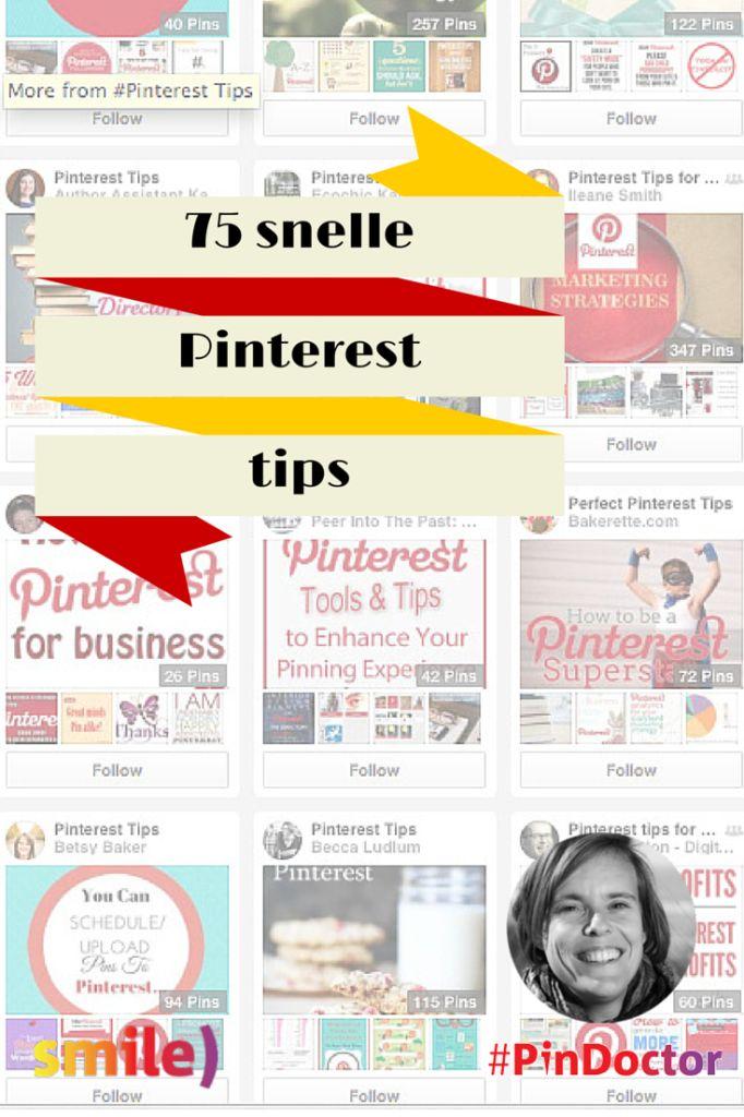 75 snelle Pinterest tips! - Smile) Social Media