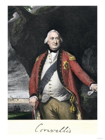 Charles Cornwallis, British General Who Surrendered at Yorktown in the American Revolution Giclee Print
