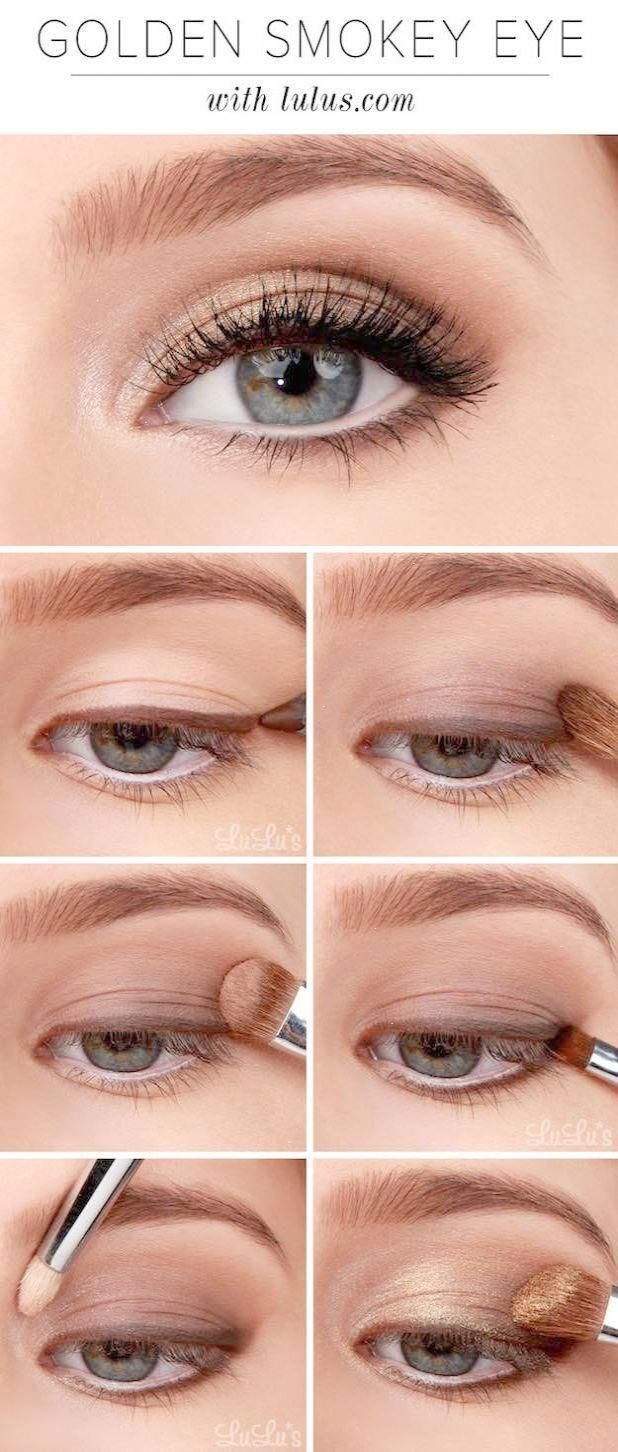 makeup tutorials for blue eyes -lulus how-to: golden smokey