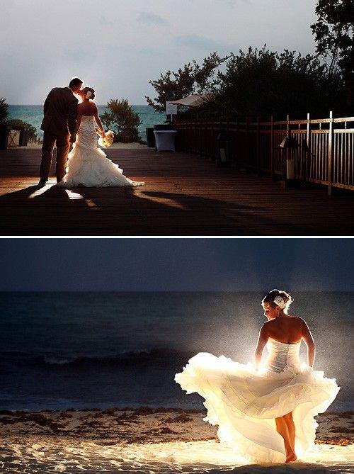 light behind the subject, FREAKING LOVE THISWedding Photography, Photos Ideas, Trav'Lin Lights, Wedding Photos, Cool Ideas, Wedding Pictures, The Dresses, Beach Wedding, The Brides