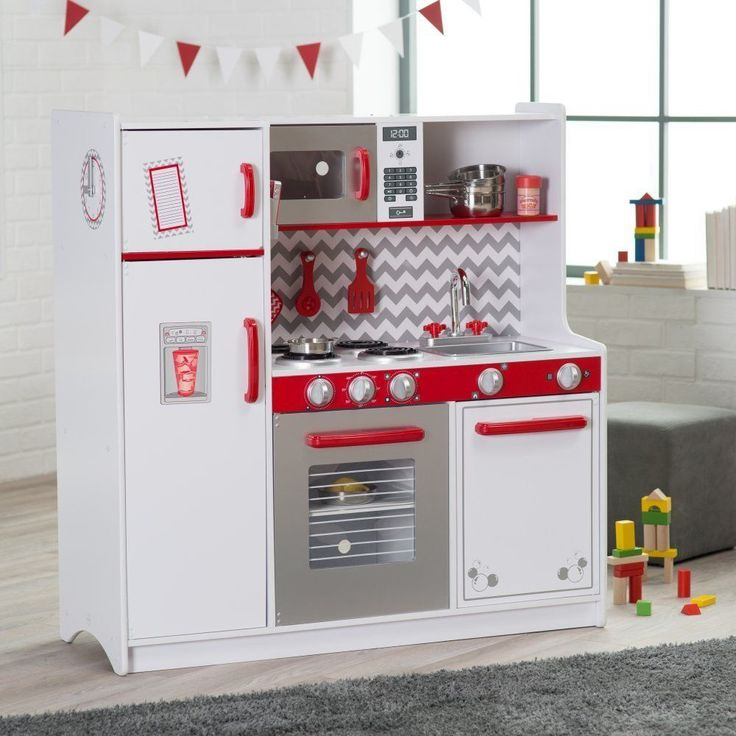 KidKraft Busy Bakin White Children Pretend Play Kids Wooden Kitchen | 53342 #KidKraft