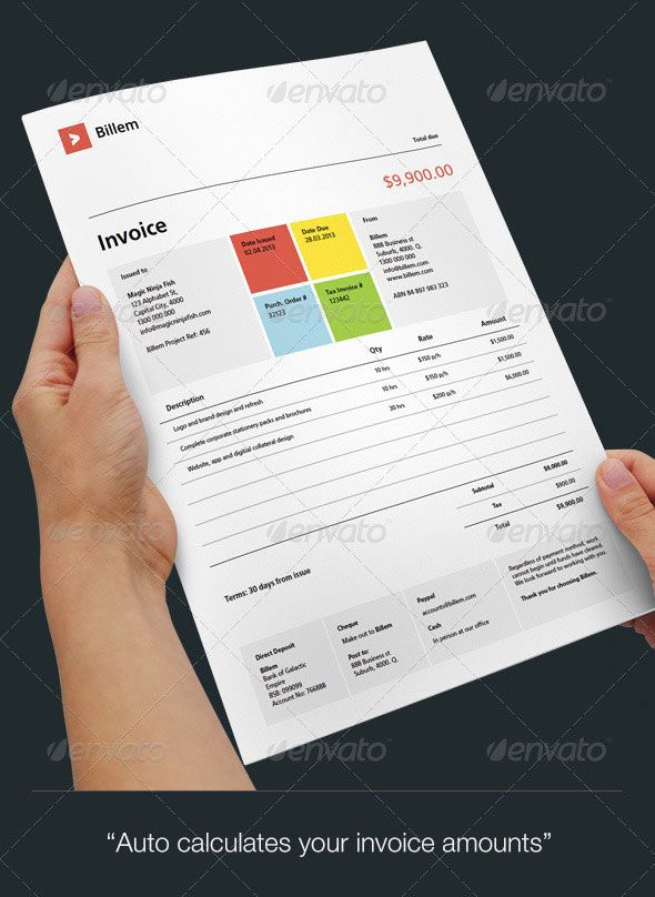 Modern Invoice Template  Stationery Design    Modern