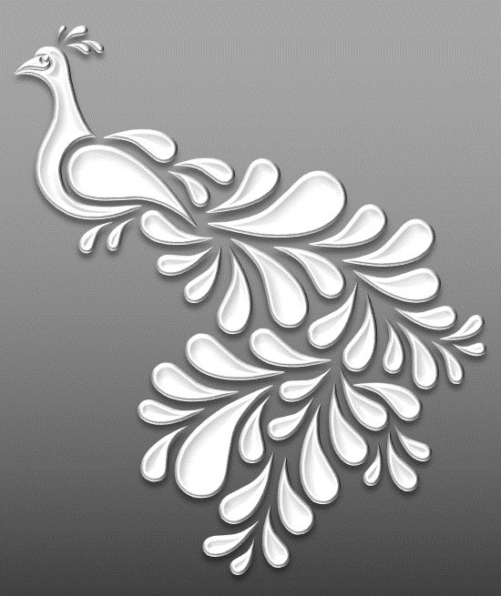 Peacock – Cut Outs – Art & Islamic Graphics