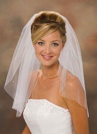 Свадебные прически с фатой на фото | Прически под фату