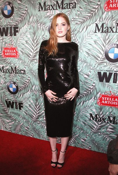 Actor Ellie Bamber attends the tenth annual Women in Film Pre-Oscar Cocktail Party presented by Max Mara and BMW at Nightingale Plaza on February 24, 2017 in Los Angeles, California.