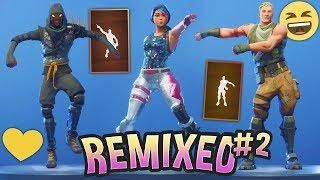fortnite dances but they are remixed part 2 - remix fortnite dances