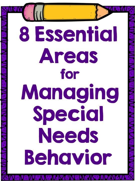Managing Special Needs Behavior.  This blog post goes into great detail about 8 things to try or remember when working with challenging behaviors.  It is a good reminder for all working in a special needs setting.  Read more at:  http://specialedpro.blogspot.com/2015/08/managing-special-needs-behavior_1.html