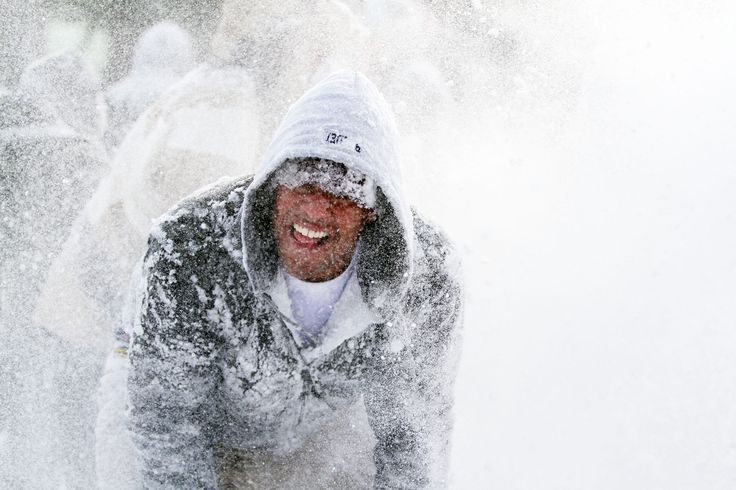 A student reacts during the massive snowball fight on Bascom Hill, Madison Wisconsin https://contest.thesca.org/snow2012/snowball-fight