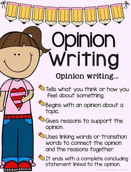 Opinion Writing, Transitions, Sentence Starters/Stems, ANY Topic Back To School