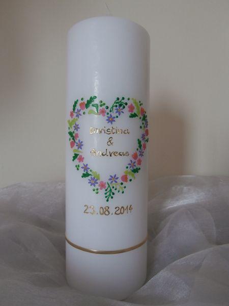 Hochzeitskerze von MyMagicWorld auf DaWanda.com