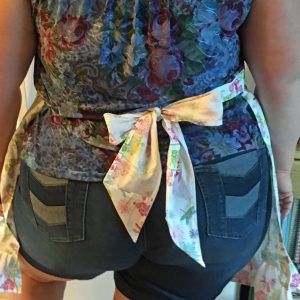 Custom Apron from CKKitchenDesigns, Blue and White Wearable Art (new listing), Blue Dragon Vein Necklace (working) and Celebration of Women Gift Guide!