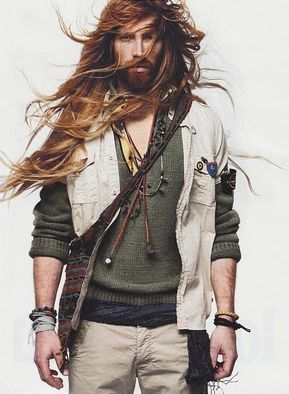 [ahem] If I'm allowed to have a say- I actually wouldn't mind if men took more fashion cues from the vikings. I mean, I'm a big fan of the geek-chic look but seriously, how about an alternate macho counter to the metro-sexual look that's not just frat boy 420-friendly slob. Just a thought.