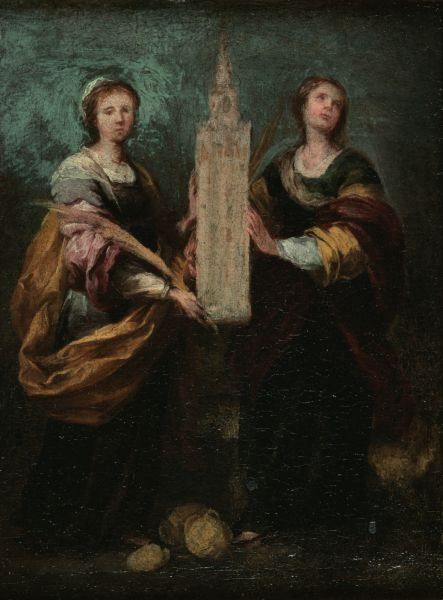 Famous Pieces of   Art Stolen by the Nazis    10. Saint Justa and Saint Rufina  Artist: Bartolome Esteban Murillo    Bartolomé Esteban Murillo is one of the most important Spanish painters in history.  He was alive during the 17th century and is a cherished painter of the Baroque period of art.